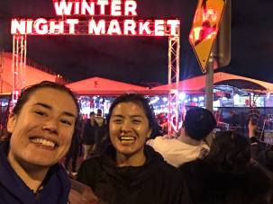 Winter Night Market with Pema