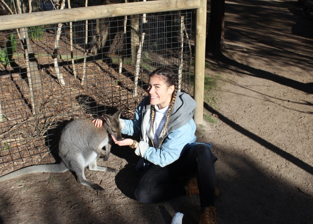 Karoline and kangaroo